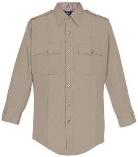 33W7804Z Mens Silver Tan Long Sleeve Zippered Front 100% Visa®; System 3 Polyester Shirt-