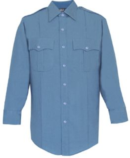 Mens Medium Blue Long Sleeve Zippered Front 100% Visa®; System 3 Polyester Shirt-