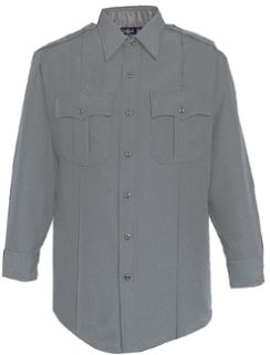 Mens Grey Long Sleeve Zippered Front 100% Visa®; System 3 Polyester Shirt-Flying Cross