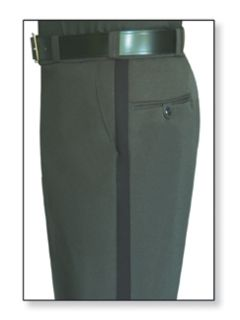 Mens Spruce Green T-1 Trouser, 100% Visa®; System 3 Polyester, Tropical Weave-Flying Cross