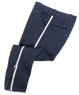 Mens Midnight Blue T-6 100% Wool Breeches, Elastique Weave-