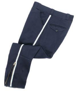 Mens Midnight Blue T-6 100% Wool Breeches, Elastique Weave-Flying Cross