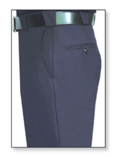 34291 Mens Navy Blue T-3 Trouser, 55/45 Polyester/Wool, Serge Weave-