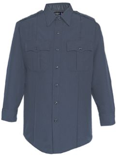 34W7886Z Mens LAPD Navy Long Sleeve Zippered Front 100% Visa®; System 3 Polyester Shirt-