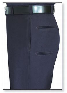 Womens LAPD Navy T-6 100% Wool Trouser, Serge Weave-