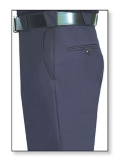 Womens Navy Blue T-3 Trouser, 55/45 Polyester/Wool, Serge Weave-