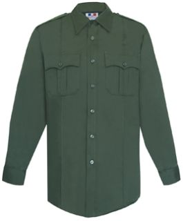 Mens Spruce Green Long Sleeve 65/35 Poly/Cotton Twill Shirt-