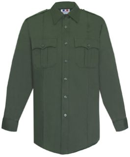 Mens O.D. Green Long Sleeve 65/35 Poly/Cotton Twill Shirt-