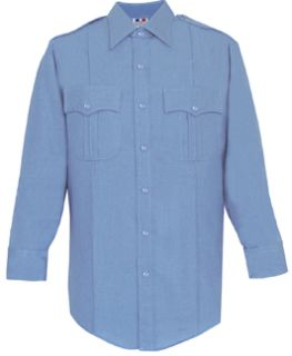 Mens Marine Blue Long Sleeve 65/35 Poly/Cotton Duro Poplin Shirt-