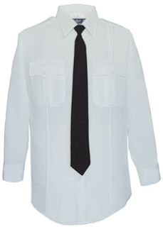 Mens White Long Sleeve 100% Visa®; System 3 Polyester Shirt-Flying Cross