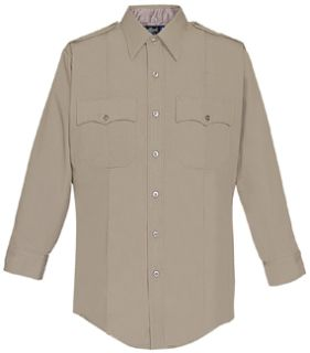 Mens Silver Tan Long Sleeve 100% Visa®; System 3 Polyester Shirt