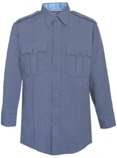 Mens French Blue Long Sleeve Zippered Front 100% Visa®; System 3 Polyester Shirt-