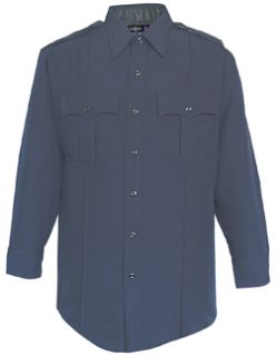 35W7886Z Mens LAPD Navy Long Sleeve Zippered Front 100% Visa®; System 3 Polyester Shirt-Flying Cross