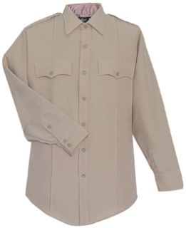 38W7804Z Mens Silver Tan Long Sleeve Zippered Front 100% Visa®; System 3 Polyester Shirt-Flying Cross