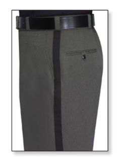 Mens Castillio Grey T-1 Gabardine 100% Visa®; System 3 Polyester Trouser-Flying Cross