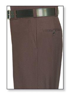 Mens Brown T-1 Trouser, 100% Visa®; System 3 Polyester, Gabardine Weave-