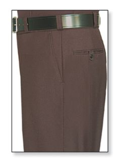 Womens Brown T-1 Trouser, 100% Visa®; System 3 Polyester, Gabardine Weave-Flying Cross