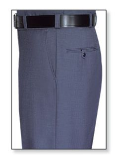 Mens French Blue T-1, 75/25 Polyester/Wool Trouser, Serge Weave-