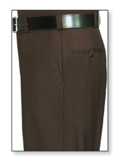 Mens Brown T-1, 75/25 Polyester/Wool Trouser, Serge Weave-