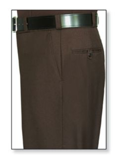 Womens Brown T-1, 75/25 Polyester/Wool Trouser, Serge Weave-