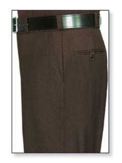 Womens Brown T-1, 75/25 Polyester/Wool Trouser, Serge Weave-Flying Cross