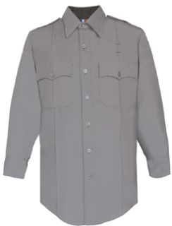 Mens Silver Grey Long Sleeve 65/35 Poly/Rayon Deluxe Tropical Shirt-