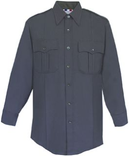 Mens LAPD Navy Long Sleeve 65/35 Poly/Rayon Deluxe Tropical Shirt-