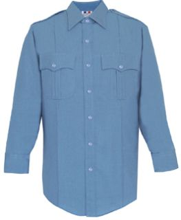 Mens Medium Blue Long Sleeve Deluxe Tactical Shirt 68/30/2 Poly/Rayon/Lycra®;-Flying Cross