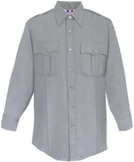 Mens Heather Grey Long Sleeve Deluxe Tactical Shirt 68/30/2 Poly/Rayon/Lycra®;-