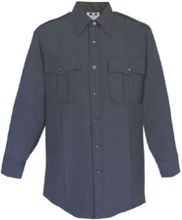 Mens LAPD Navy Long Sleeve Deluxe Tactical Shirt 68/30/2 Poly/Rayon/Lycra®;-