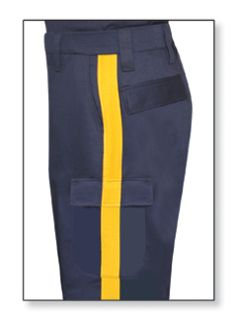 Mens LAPD Navy w/Gold Stripe T-11 65/35 Poly/Cotton Twill Trouser-