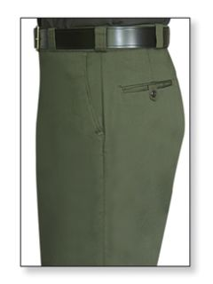 Mens O.D. Green T-1 Trouser, 65/35 Poly/Cotton, Twill Weave-
