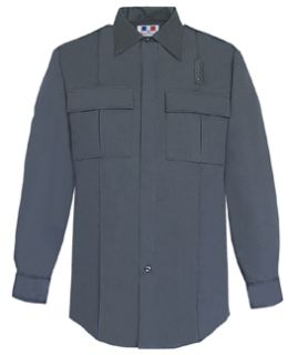 Mens LAPD Navy Long Sleeve Tactical Shirt 65/35 Poly/Cotton-