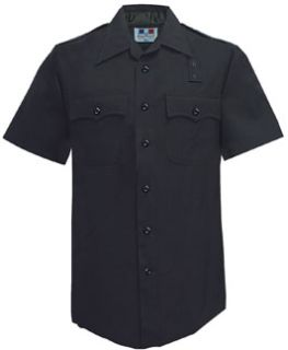 Mens LAPD Navy Short Sleeve Shirt, 100% Wool-Flying Cross