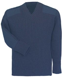 Navy Sweater w/Wind-Stop 70% Acrylic/30% Wool-