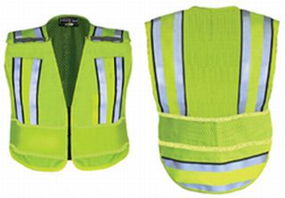 Hivis Yellow Pro Series Convertible Safety Vest-Flying Cross
