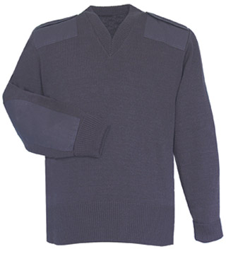 Navy Jersey Sweater 70% Acrylic Poly/30% Wool-Flying Cross