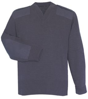 Navy Jersey Lined Sweater 70% Acrylic Poly/30% Wool-