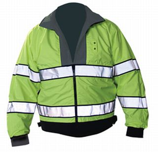 Reversible Hi-Visibility Black/Fluorescent Yellow-Flying Cross