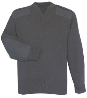 Black Jersey Lined Sweater 70% Acrylic Poly/30% Wool-Flying Cross