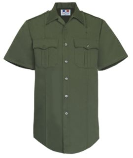 Mens O.D. Green Short Sleeve Twill Shirt 65/35 Poly/Cotton-
