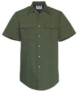 Mens O.D. Green Short Sleeve Twill Shirt 65/35 Poly/Cotton-