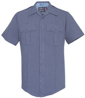 Mens French Blue Short Sleeve 100% Visa®; System 3 Polyester Shirt-Flying Cross