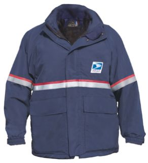 Female Usps Waterproof All-Weather Gear Parka Navy Blue-