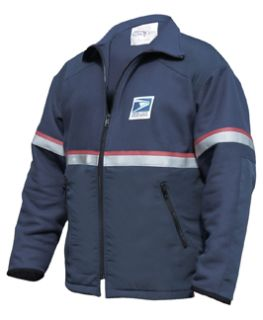Female Usps Intermediate Weight Fleece Zip-In Jacket Navy Blue-Flying Cross