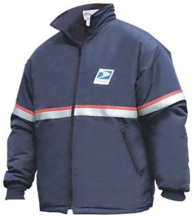 Female Usps Heavy Weight Fleece Zip-In Jacket Liner Navy Blue-Flying Cross