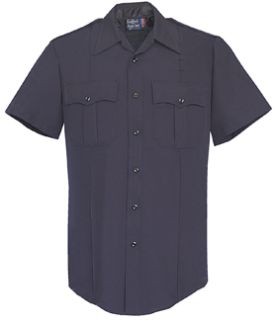 Mens LAPD Navy Short Sleeve Zippered Front 100% Visa®; System 3 Polyester Shirt-
