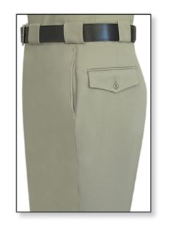 Mens Silver Tan T-7 Trouser, 100% Visa®; System 3 Polyester, Elastique Weave-Flying Cross