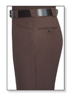 Womens Brown T-8 Trouser, 100% Visa®; System 3 Polyester, Elastique Weave