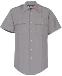 Mens Silver Grey Short Sleeve Deluxe Tropical Shirt 65/35 Poly/Rayon-